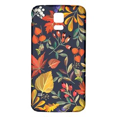 Autumn Flowers Pattern 8 Samsung Galaxy S5 Back Case (white) by tarastyle