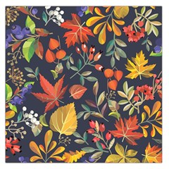 Autumn Flowers Pattern 8 Large Satin Scarf (square) by tarastyle