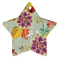 Autumn Flowers Pattern 9 Ornament (star) by tarastyle