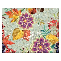 Autumn Flowers Pattern 9 Rectangular Jigsaw Puzzl by tarastyle