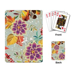 Autumn Flowers Pattern 9 Playing Card by tarastyle