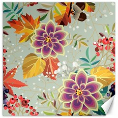 Autumn Flowers Pattern 9 Canvas 20  X 20   by tarastyle