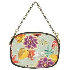 Autumn Flowers Pattern 9 Chain Purses (two Sides)  by tarastyle