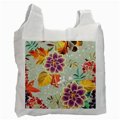 Autumn Flowers Pattern 9 Recycle Bag (two Side)  by tarastyle