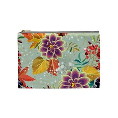Autumn Flowers Pattern 9 Cosmetic Bag (medium)  by tarastyle
