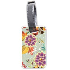 Autumn Flowers Pattern 9 Luggage Tags (two Sides) by tarastyle