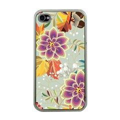 Autumn Flowers Pattern 9 Apple Iphone 4 Case (clear) by tarastyle