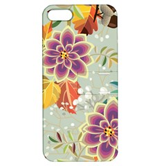 Autumn Flowers Pattern 9 Apple Iphone 5 Hardshell Case With Stand by tarastyle