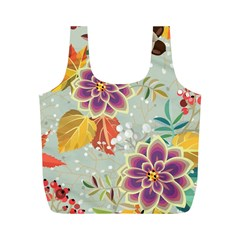 Autumn Flowers Pattern 9 Full Print Recycle Bags (m)  by tarastyle