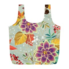 Autumn Flowers Pattern 9 Full Print Recycle Bags (l)  by tarastyle