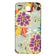Autumn Flowers Pattern 9 Samsung Galaxy S5 Back Case (white) by tarastyle