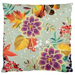 Autumn Flowers Pattern 9 Standard Flano Cushion Case (two Sides) by tarastyle