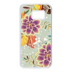 Autumn Flowers Pattern 9 Samsung Galaxy S7 White Seamless Case by tarastyle