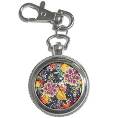 Autumn Flowers Pattern 10 Key Chain Watches by tarastyle