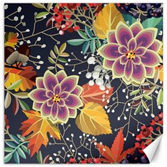 Autumn Flowers Pattern 10 Canvas 20  X 20   by tarastyle