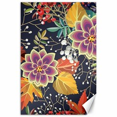 Autumn Flowers Pattern 10 Canvas 24  X 36  by tarastyle