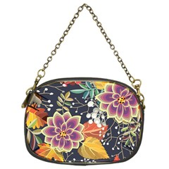 Autumn Flowers Pattern 10 Chain Purses (two Sides)  by tarastyle