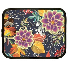 Autumn Flowers Pattern 10 Netbook Case (xxl)  by tarastyle