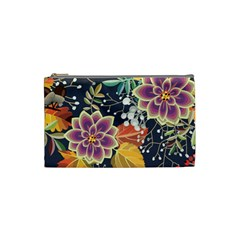 Autumn Flowers Pattern 10 Cosmetic Bag (small)  by tarastyle