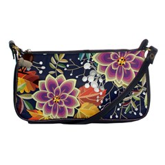Autumn Flowers Pattern 10 Shoulder Clutch Bags by tarastyle