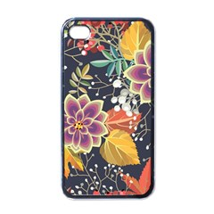 Autumn Flowers Pattern 10 Apple Iphone 4 Case (black) by tarastyle