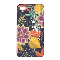 Autumn Flowers Pattern 10 Apple Iphone 4/4s Seamless Case (black) by tarastyle