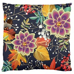 Autumn Flowers Pattern 10 Large Cushion Case (one Side) by tarastyle