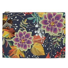 Autumn Flowers Pattern 10 Cosmetic Bag (xxl)  by tarastyle