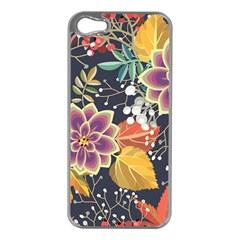 Autumn Flowers Pattern 10 Apple Iphone 5 Case (silver) by tarastyle