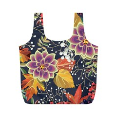 Autumn Flowers Pattern 10 Full Print Recycle Bags (m)  by tarastyle