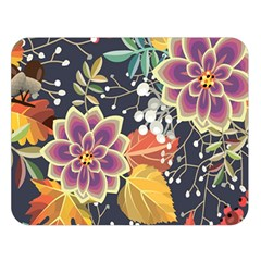 Autumn Flowers Pattern 10 Double Sided Flano Blanket (large)  by tarastyle