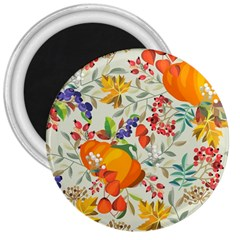 Autumn Flowers Pattern 11 3  Magnets by tarastyle