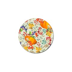 Autumn Flowers Pattern 11 Golf Ball Marker (10 Pack) by tarastyle