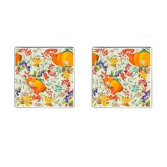 Autumn Flowers Pattern 11 Cufflinks (square) by tarastyle