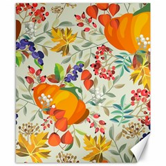 Autumn Flowers Pattern 11 Canvas 8  X 10  by tarastyle