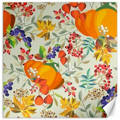 Autumn Flowers Pattern 11 Canvas 20  X 20   by tarastyle