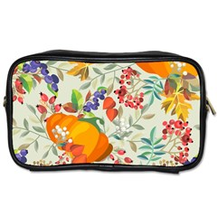 Autumn Flowers Pattern 11 Toiletries Bags 2 Side by tarastyle