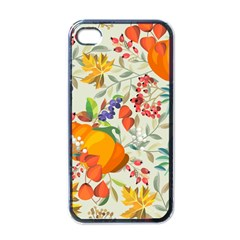 Autumn Flowers Pattern 11 Apple Iphone 4 Case (black) by tarastyle