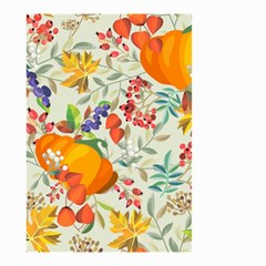 Autumn Flowers Pattern 11 Small Garden Flag (two Sides) by tarastyle