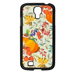 Autumn Flowers Pattern 11 Samsung Galaxy S4 I9500/ I9505 Case (black) by tarastyle