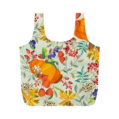 Autumn Flowers Pattern 11 Full Print Recycle Bags (m)  by tarastyle