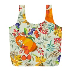 Autumn Flowers Pattern 11 Full Print Recycle Bags (l)  by tarastyle
