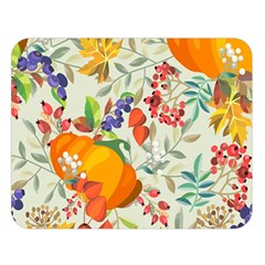 Autumn Flowers Pattern 11 Double Sided Flano Blanket (large)  by tarastyle