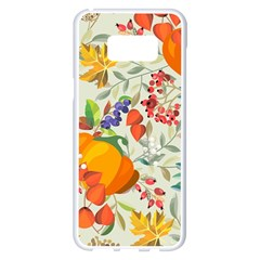Autumn Flowers Pattern 11 Samsung Galaxy S8 Plus White Seamless Case by tarastyle