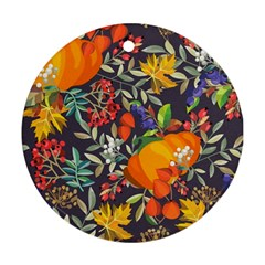 Autumn Flowers Pattern 12 Ornament (round) by tarastyle