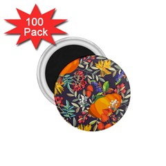 Autumn Flowers Pattern 12 1 75  Magnets (100 Pack)  by tarastyle