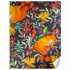 Autumn Flowers Pattern 12 Canvas 36  X 48   by tarastyle