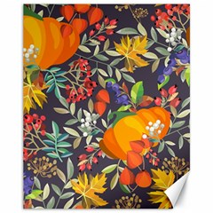 Autumn Flowers Pattern 12 Canvas 11  X 14   by tarastyle