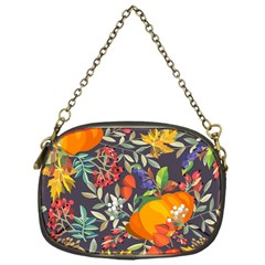 Autumn Flowers Pattern 12 Chain Purses (one Side)  by tarastyle