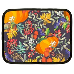 Autumn Flowers Pattern 12 Netbook Case (xxl)  by tarastyle